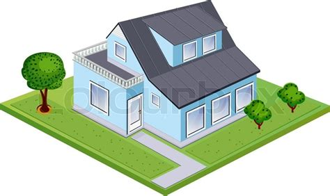 isometric house stock vector colourbox