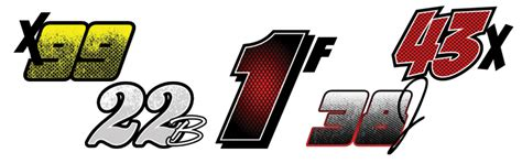 Race Car Numbers Number Kits Racegraphics Com Race Number Template