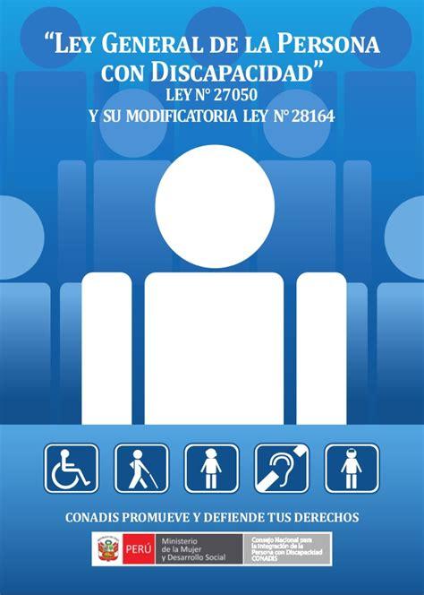 ley de discapacidad 2016 aranceles ley general persona discapacidad