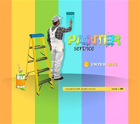 House Painter Flash Template 110068 Simple Templates House Painter Website Template