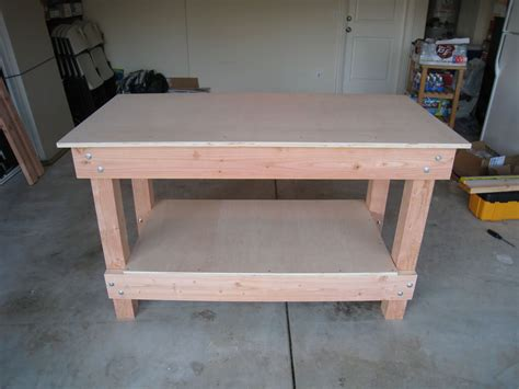 Workbench Completed Great Step By Step Instructions Building Plans Workbench