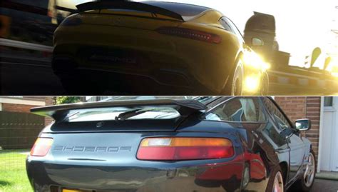 porsche 928 revealed amg gt partially revealed in racing reminds us of a
