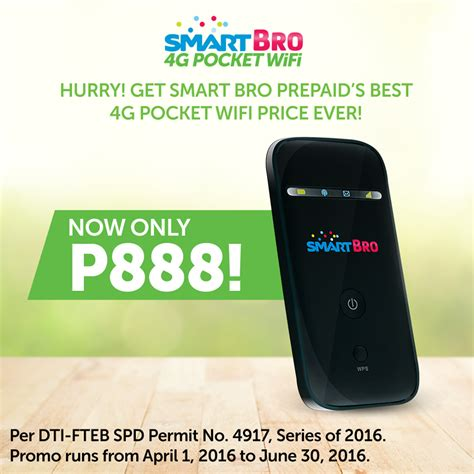 Wifi Smart Smart Bro 4g Pocket Wifi Now Only P888 Unlimited Promos