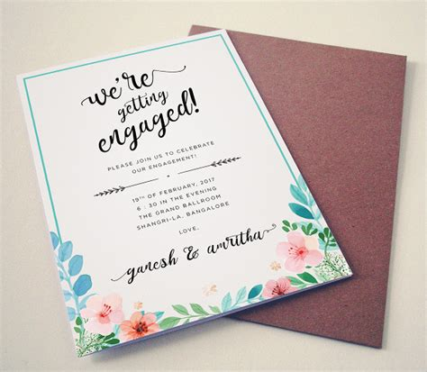 free engagement announcement card templates 20 free engagement invitations free psd vector ai eps