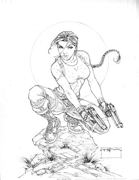 lara croft coloring coloring pages coloring pages