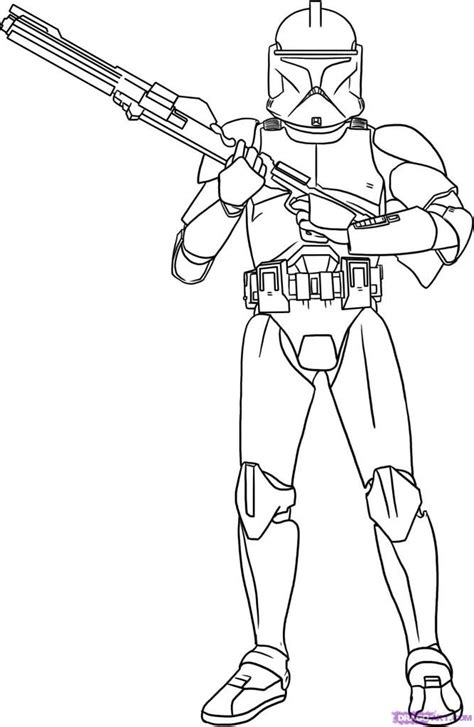 Wars Clone Wars Coloring Pages Printable wars clone trooper coloring pages coloring home