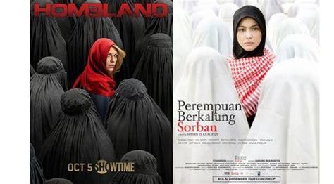 wallpaper sorban hitam poster film homeland mirip perempuan berkalung sorban