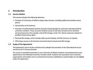 Information Technology Service Level Agreement Template service level agreement 9 download free documents in