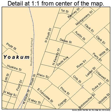 yoakum texas map yoakum texas map 4880560