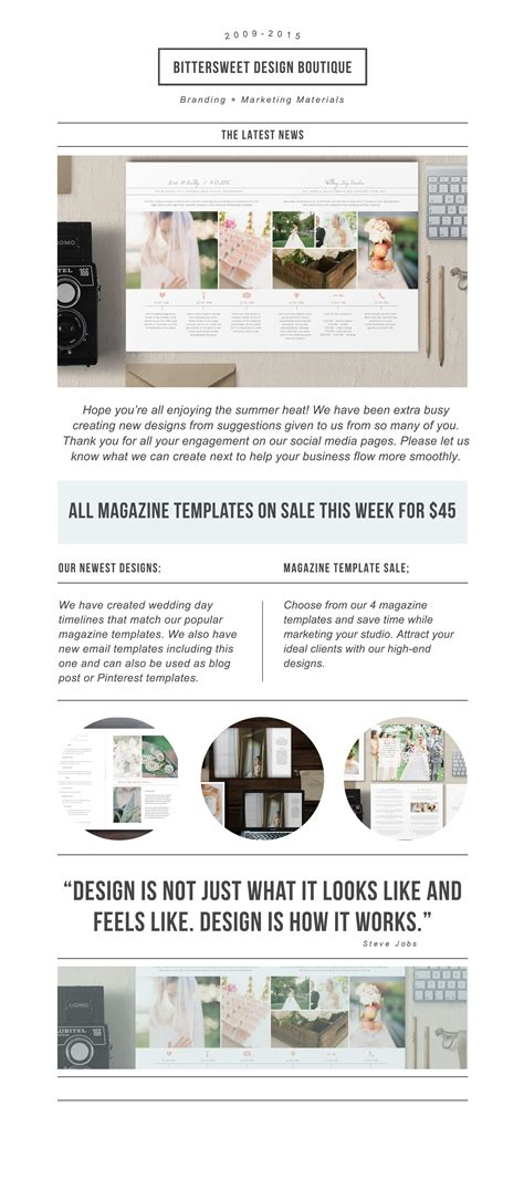 Photography Newsletter Template For Email Pinterest Wedding Photographer Marketing Templates Wedding Photography Email Templates