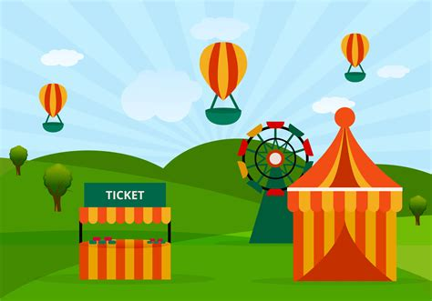 theme park vector amusement park ride vector download free vector art