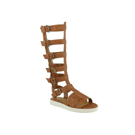 gladiator sandals high faux leather strappy knee high gladiator sandals sparta