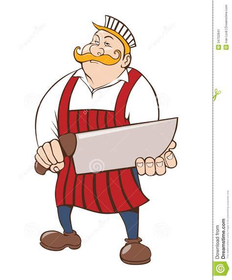 Designer Knife macellaio con il grande coltello immagine stock immagine
