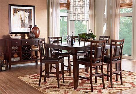Lake Tahoe Brown 7 Pc Rectangle Dining Room Dining Room Sets Wood Dining Room Sets Dining Rooms Page 5