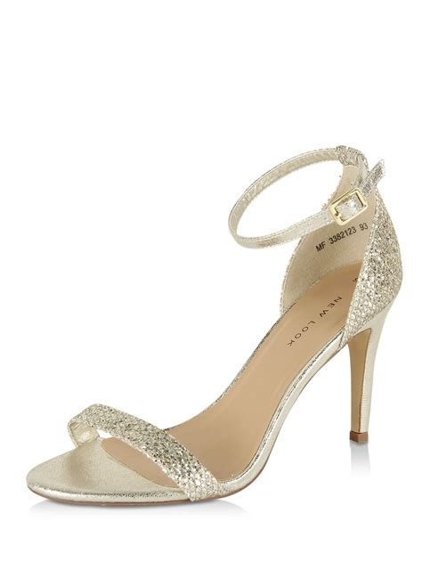 barely there gold sandals buy new look glitter barely there sandals for
