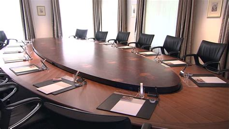 Business Table by Table Business Meeting Switzerland Hd Stock
