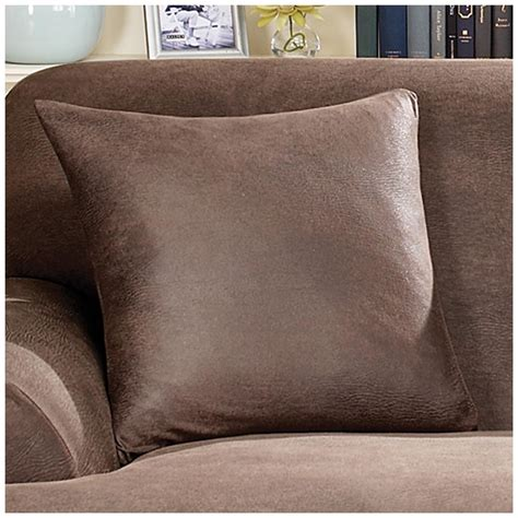 leather sofa throws covers sure fit 174 stretch leather 18 quot throw pillow 581256