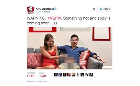 sofa handjob kfc advertise new spicy chicken range with extremely weird