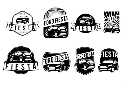 ford set ford fiesta badge set download free vector art stock