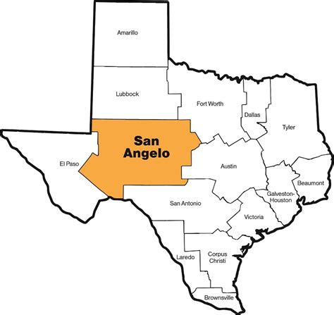 where is san angelo texas on the map about the diocese diocese of san angelo san angelo texas