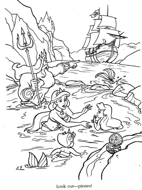 karakter walt disney imej walt disney book scans 81 ariels sisters coloring pages little mermaid
