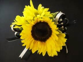 sunflower corsage sunflower corsage wedding stuff