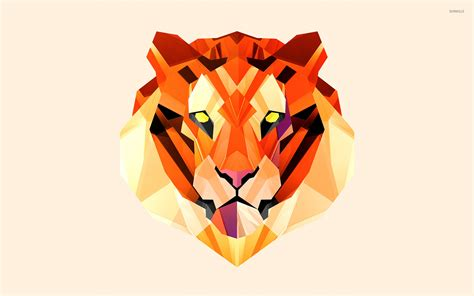 polygon tiger wallpaper vector wallpapers 31591
