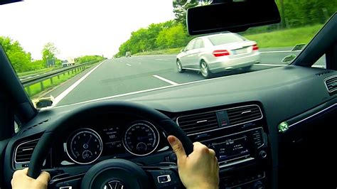 Golf R Autobahn by Vw Golf 7 R Onboard Pov Driver View Autobahn Acceleration