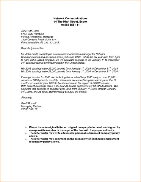 Proof Of Income Letter Pdf income letter from employer the letter sle