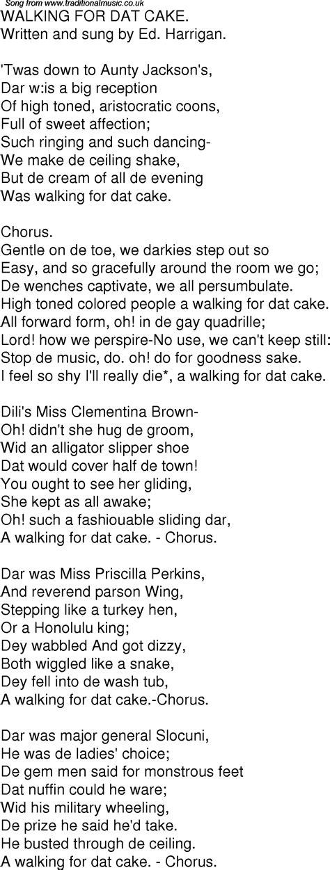 Walking On The Ceiling Lyrics by Time Song Lyrics For 09 Walking For Dat Cake