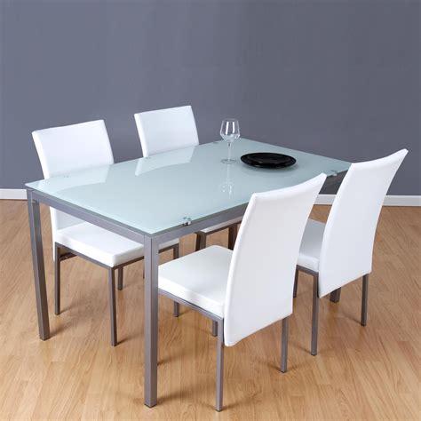 mesa y sillas blancas conjunto mesa 4 sillas lux blanco closet norte