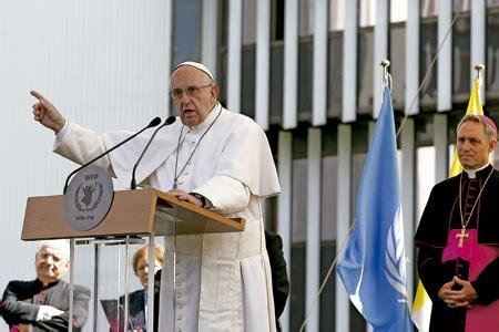 sede pam el papa exige desburocratizar la lucha contra el hambre