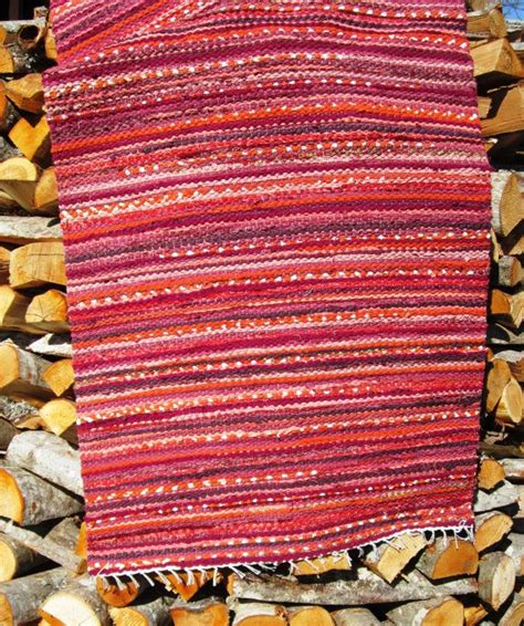 Woven Rag Rugs For Sale by Handwoven Rag Rug 2 26 X 5 05 Oranges Terracottas