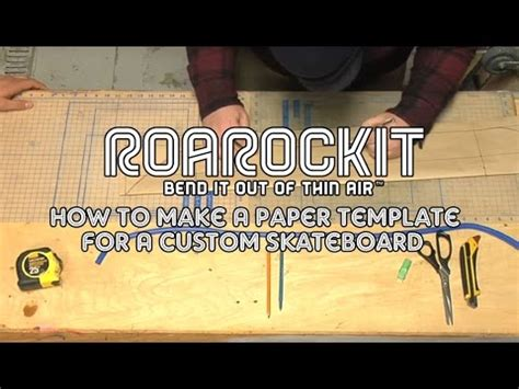How To Make Paper Skateboard - how to make a paper template for a custom skateboard