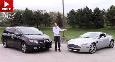 Honda V8 by An Aston Martin Vantage V8 Compared To A Honda Odyssey