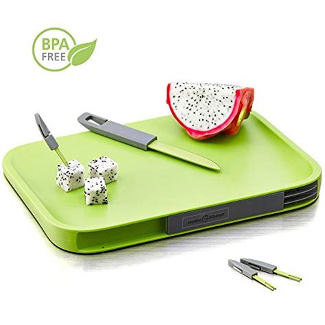 Bor Mini Modern modern non slip cutting board with compartments for included knife and mini fork set