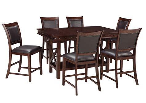 brown dining room table roses flooring and furniture collenburg dark brown