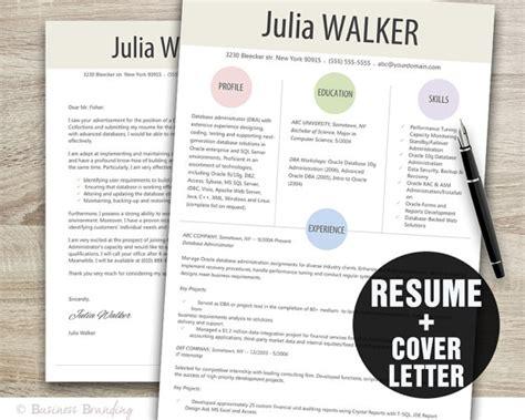 Cover Letter Template Etsy Designer Resume Template Cover Letter Template Instant