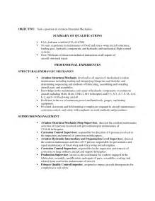 Aircraft Structural Repair Sle Resume by Winning Resume Sle For Aviation Mechanic With Professional Experience Vntask