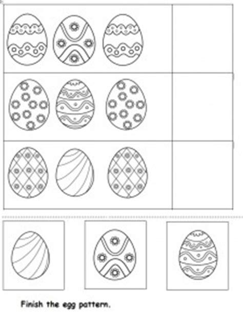 egg pattern worksheet easter worksheet for kids crafts and worksheets for