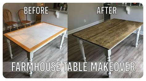 Diy Dining Room Table Makeover Diy Dining Room Table Makeover Farmhouse Table Edition