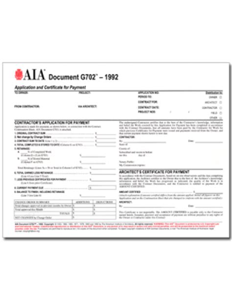 Guarantee Letter Aia Aia Form G702 Pack Of 50