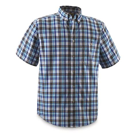 M Plaid Shirt wrangler s blue ridge sleeve plaid shirt