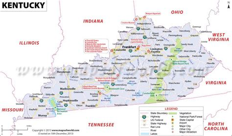 kentucky attractions map kentucky map for free and use the map of