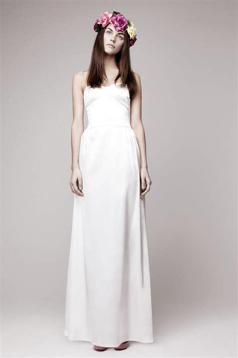 Dress Simpel Dress simple wedding dress for vintage or modern brides 4