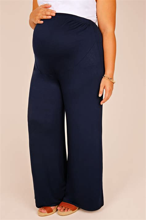 Address Finder From Name And Town Bump It Up Maternity Navy Palazzo Trousers With Comfort Panel Plus Size 16 To 32