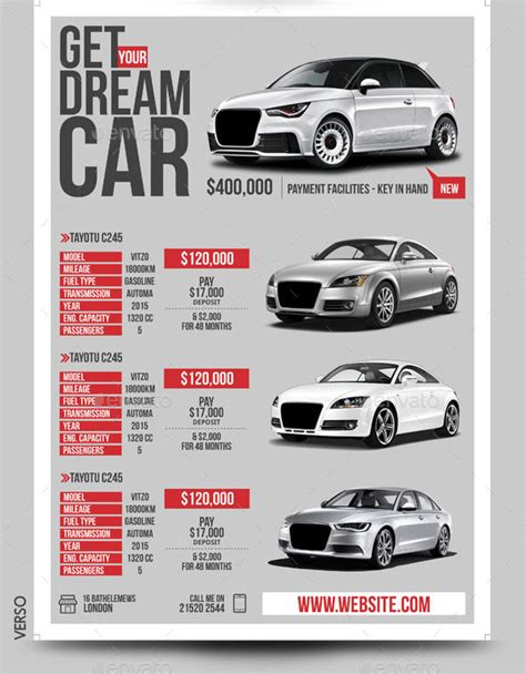 car dealer auto services business flyer by blogankids