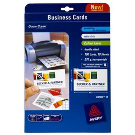 will open office work with avery business cards templates avery sided colour laser business cards 100 pack