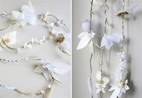 Paper Garland - concarta paper sculpture cake toppers for weddings