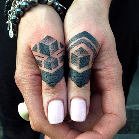 geometric tattoo finger 73 awesome geometric tattoo designs mens craze